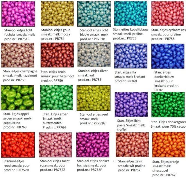 Paaseitjes op kleur - diverse smaken