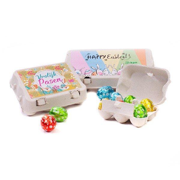 Mini eierdoosjes met paaseieren - 3 formaten