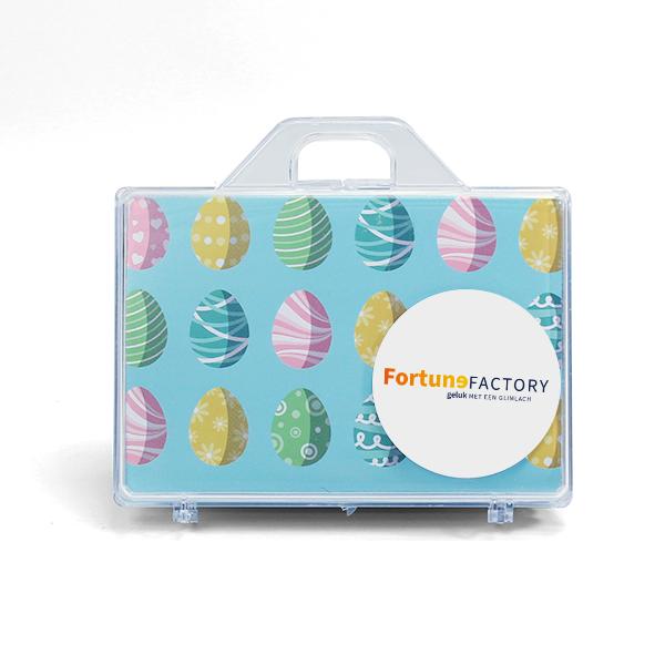 Koffer met sticker