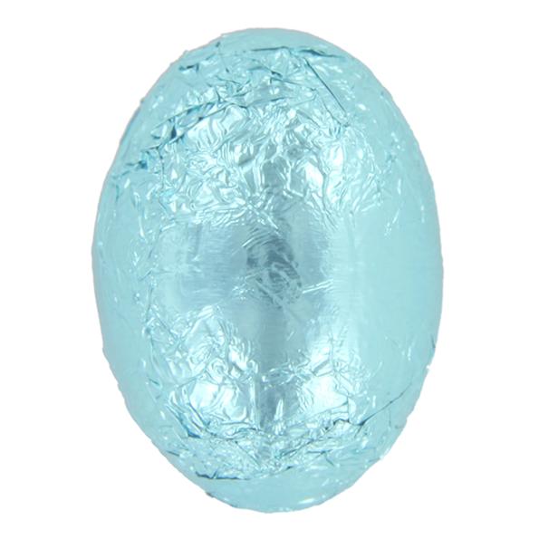 Licht blauwe paaseitjes - melkchocolade