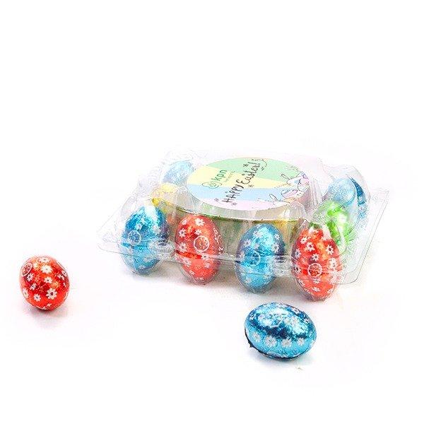 Transparant eierdoosje met eigen sticker