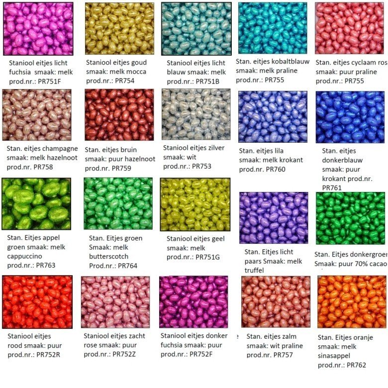 verschillende kleuren paaseitjes